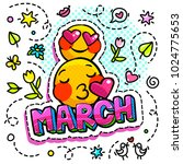 8 march international women's... | Shutterstock .eps vector #1024775653
