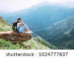 tourist woman enjoy with... | Shutterstock . vector #1024777837