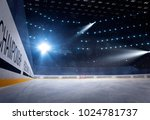 hockey stadium with fans crowd... | Shutterstock . vector #1024781737
