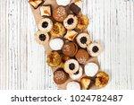 homemade european bakery style...   Shutterstock . vector #1024782487