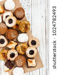 homemade european bakery style...   Shutterstock . vector #1024782493