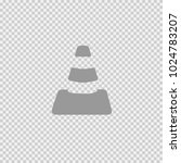 cone vector icon eps 10. simple ... | Shutterstock .eps vector #1024783207