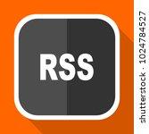 rss vector icon. flat design... | Shutterstock .eps vector #1024784527