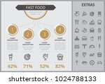 fast food infographic template  ... | Shutterstock .eps vector #1024788133
