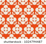 seamless retro pattern with... | Shutterstock .eps vector #1024794487