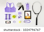 fitness  healthy lifestyle ... | Shutterstock . vector #1024796767