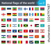 flags of the world. vector... | Shutterstock .eps vector #1024797487