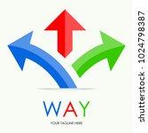 vector of way logo arroww... | Shutterstock .eps vector #1024798387