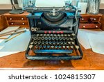 antique  typewriter with a...   Shutterstock . vector #1024815307
