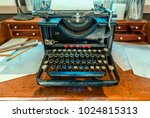 antique  typewriter with a...   Shutterstock . vector #1024815313
