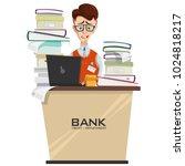 vector illustration of credit... | Shutterstock .eps vector #1024818217