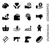 solid vector icon set   gloves... | Shutterstock .eps vector #1024820953