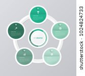 circle infographic template... | Shutterstock .eps vector #1024824733
