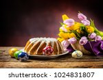 traditional ring marble cake...   Shutterstock . vector #1024831807