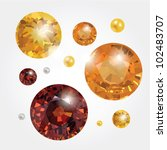 vector golden gems | Shutterstock .eps vector #102483707