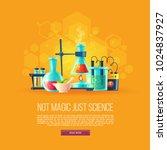 vector cartoon background with... | Shutterstock .eps vector #1024837927