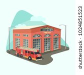 fire department or dept ...   Shutterstock .eps vector #1024851523