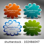 vector stickers for text | Shutterstock .eps vector #102486047