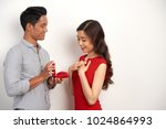 young man proposing to his... | Shutterstock . vector #1024864993