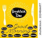 breakfast time logo  fork ... | Shutterstock .eps vector #1024866697