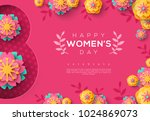 international women's day pink... | Shutterstock .eps vector #1024869073