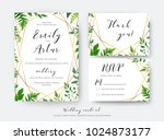 wedding floral save the date ... | Shutterstock .eps vector #1024873177
