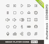 media player outline vector... | Shutterstock .eps vector #102488093