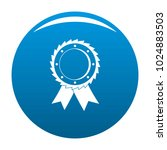 award icon vector blue circle... | Shutterstock .eps vector #1024883503