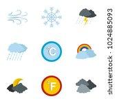 meteorological icons set. flat...