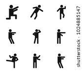 movement icons set. simple set... | Shutterstock .eps vector #1024885147