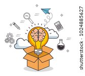 creative mind set icons | Shutterstock .eps vector #1024885627