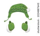 mittens and hat vector... | Shutterstock .eps vector #1024887643