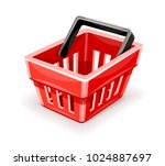 red empty shopping basket icon  ...   Shutterstock .eps vector #1024887697