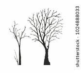 tree silhouette on white... | Shutterstock .eps vector #1024888033