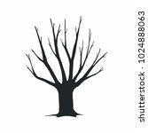 tree silhouette on white... | Shutterstock .eps vector #1024888063