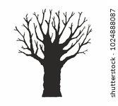 tree silhouette on white... | Shutterstock .eps vector #1024888087