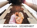 happy and loving couple... | Shutterstock . vector #1024894807