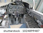 70's fighter plane cockpit | Shutterstock . vector #1024899487