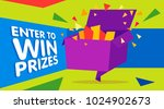 enter to win prizes gift box.... | Shutterstock .eps vector #1024902673