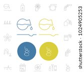 cosmetics icons set with... | Shutterstock .eps vector #1024905253