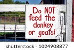 farm sign do not feed the... | Shutterstock . vector #1024908877