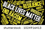 black lives matter word cloud... | Shutterstock .eps vector #1024916413