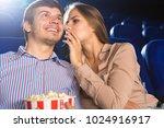 young loving couple enjoying... | Shutterstock . vector #1024916917