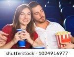 young beautiful woman smiling... | Shutterstock . vector #1024916977