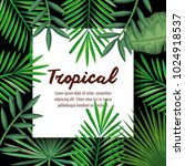 tropical and exotic palms leafs | Shutterstock .eps vector #1024918537