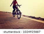 cyclist riding bike on the... | Shutterstock . vector #1024925887