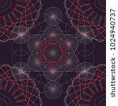 seamless trendy metatrons cube  ... | Shutterstock .eps vector #1024940737