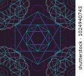 seamless trendy metatrons cube  ... | Shutterstock .eps vector #1024940743