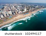 aerial view of durban  south... | Shutterstock . vector #102494117