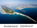 overall aerial view of durban ... | Shutterstock . vector #102494147